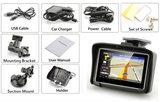 4.3 inch Motor GPS Navigatie met Nieuwste Kaarten Europa_