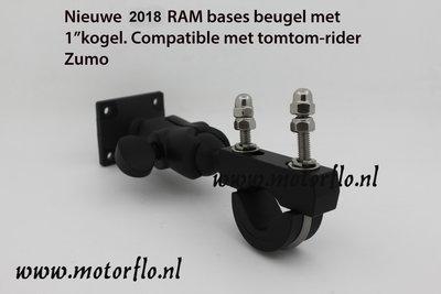 Mount (RAM gebaseerd) voor motor GPS Universeel voor 3.5, 4.3, 5 inch tomtom en zumo